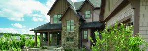 home with premium hardie siding and stone
