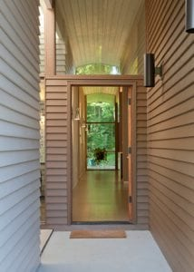 entryway with Hardie siding