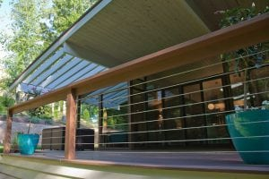 home with premium hardie siding and deck